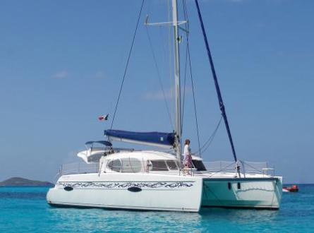 Lipari 41 anchored