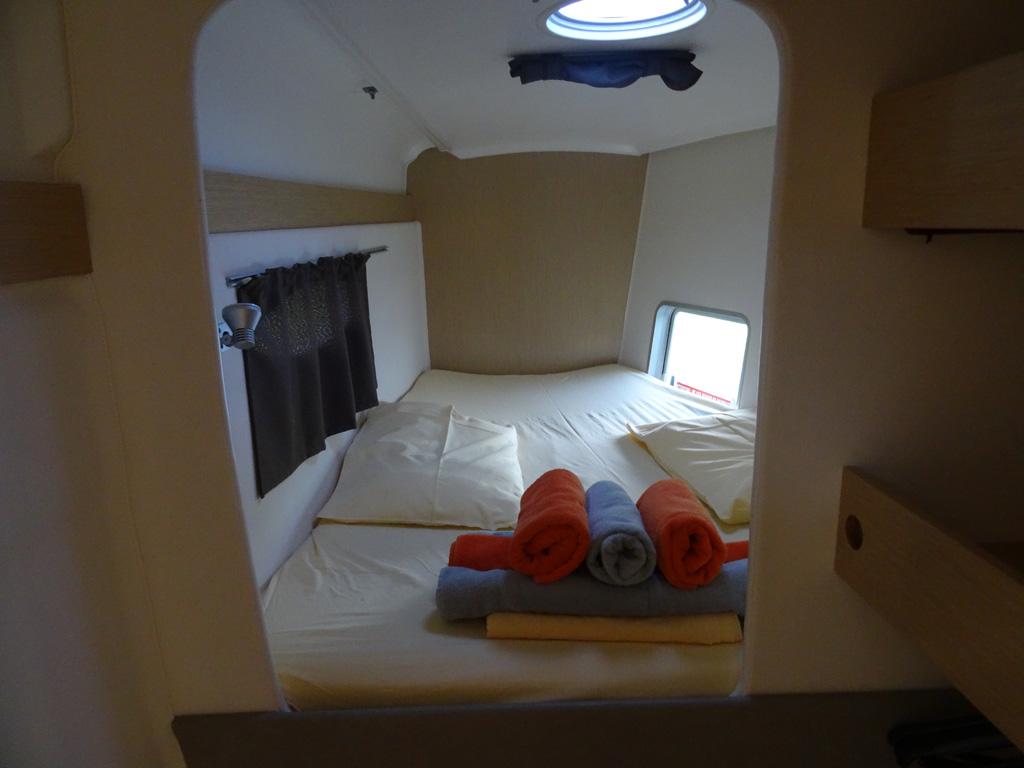 Fountaine-Pajot Mahé 36 evolution cabine avant tribord